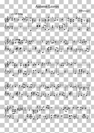 Autumn Leaves Sheet Music Jazz Piano PNG, Clipart, Angle, Area
