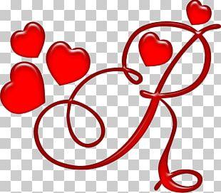 Letter Alphabet Red Heart Dia Dos Namorados PNG