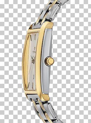 Titan Company Metal Platinum Watch Strap Clock PNG