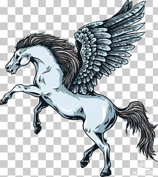 Legendary Creature Greek Mythology Mythical Creature Pegasus Wall Decal PNG
