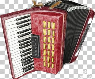Diatonic Button Accordion Watercolor Painting Drawing PNG