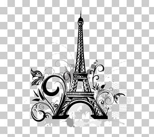 Eiffel Tower Wall Decal Tattoo Drawing PNG