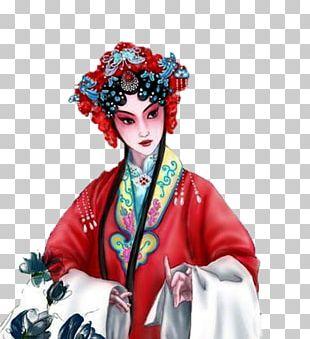 Peking Opera Chinese Opera Cartoon Illustration PNG