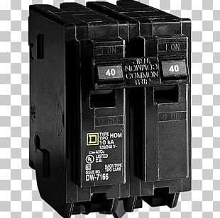 Circuit Breaker Schneider Electric Square D Ampere Electrical Network PNG