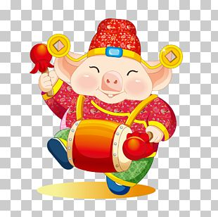 Chinese Zodiac Chinese New Year Domestic Pig PNG