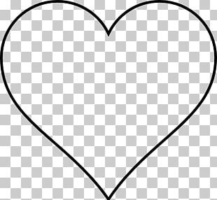 Heart Drawing Outline PNG