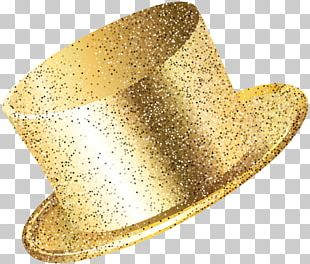 New Year Party Hat Gold PNG