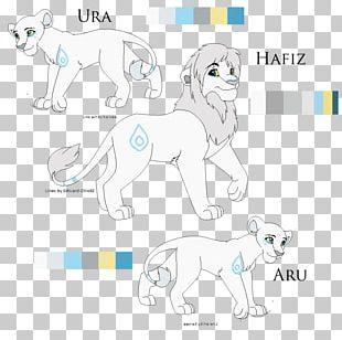 Dog Breed Lion Line Art PNG
