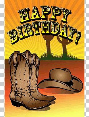 Birthday Cowboy Greeting Card Western PNG