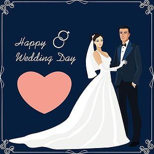 Groom Bride Wedding Material PNG