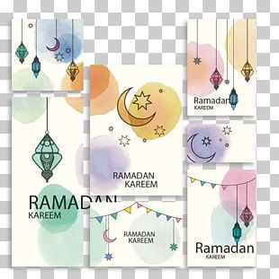 Ramadan Watercolor Painting Paper PNG