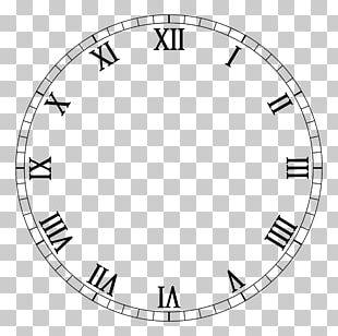 Clock Face Roman Numerals Digital Clock Movement PNG
