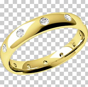 Wedding Ring Diamond Brilliant Colored Gold PNG