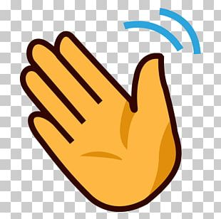 Hand-waving Wave Emoji PNG
