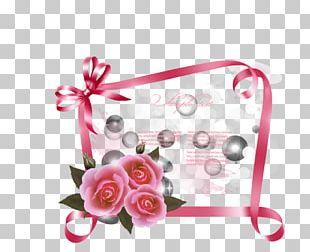 Greeting Card Ribbon Rose PNG
