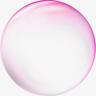 Rose Red Transparent Bubble Effect Element PNG