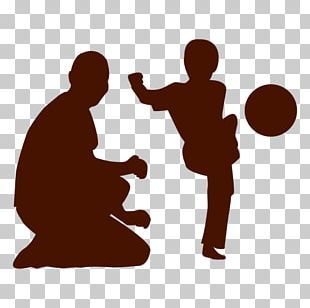 Silhouette Child Father PNG