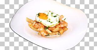 Vegetarian Cuisine Gambas Al Ajillo Fried Egg French Fries Breakfast PNG