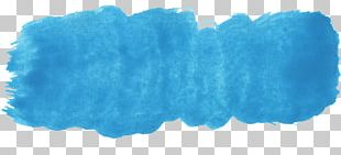 Blue Watercolor Painting Turquoise PNG
