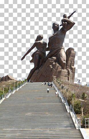 African Renaissance Monument Deux Mamelles Statue Of Liberty Eiffel Tower Ouakam PNG