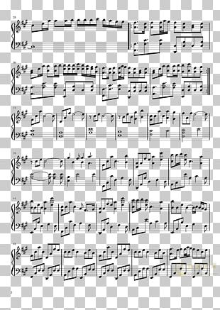 Sheet Music Numbered Musical Notation Piano PNG