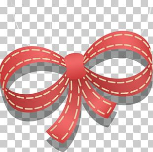 Valentines Day Shoelace Knot Ribbon Heart PNG