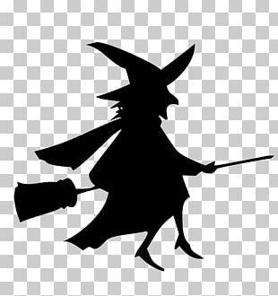 Broom Witchcraft Silhouette Boszorkxe1ny PNG
