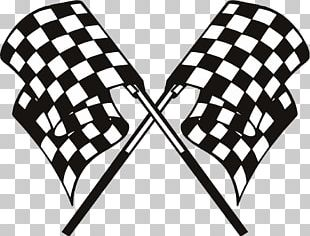 Kart Racing Go-kart Racing Flags Auto Racing PNG