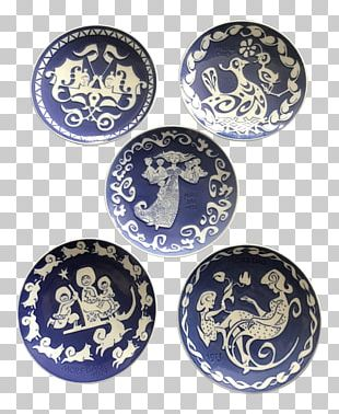 Plate Royal Copenhagen Blue And White Pottery Mother's Day Porcelain PNG