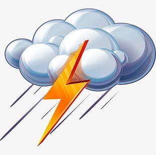 Thunderstorm Lightning Weather Icon PNG