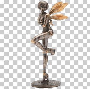 Bronze Sculpture Statue Steampunk Fairy Figurine PNG