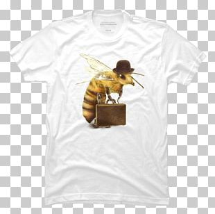 Worker Bee T-shirt Bag Greeting & Note Cards PNG