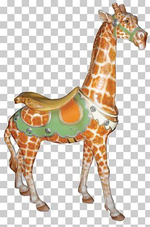 Giraffe Horse Carousel Animal Scrapbooking PNG