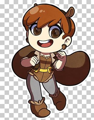 Squirrel Girl Drawing PNG