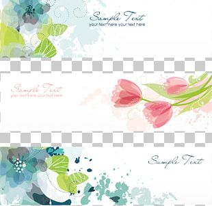 Flower Banner Illustration PNG
