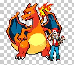 Pokémon Yellow Pokémon HeartGold And SoulSilver Charizard Pixel Art PNG