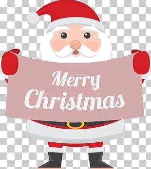 Rudolph Santa Claus Reindeer Christmas Card PNG
