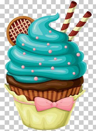 Ice Cream Cupcake Birthday Cake Bakery Custard PNG