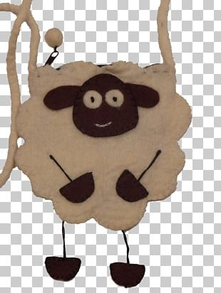 Sheep Felt Pocket Bag Strap PNG