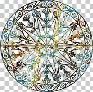 Circle Ring Motif Pattern PNG