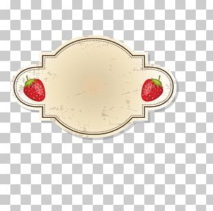 Auglis Label Strawberry Sticker PNG