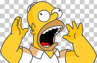 Homer Simpson Rendering Character PNG