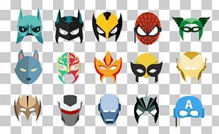 Batman Spider-Man Iron Man Mask PNG