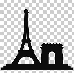 Eiffel Tower Landmark Drawing PNG