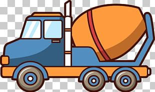 Car Concrete Mixer Truck Architectural Engineering PNG