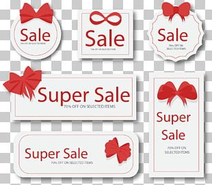 Sticker Red Web Banner Label PNG