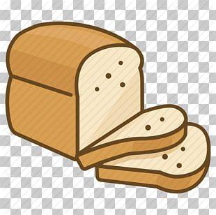 Toast Sliced Bread Cartoon Illustration PNG