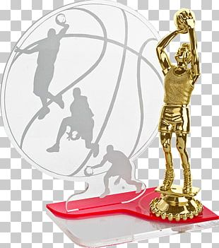 Sports Award Trophy Glass Basketball PNG