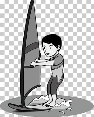 Sport Cartoon Windsurfing PNG