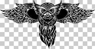 Owl Totem Tattoo Illustration PNG